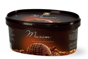 Maxim Premium ice cream carton