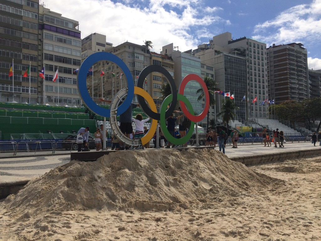 Olympic rings falling apart